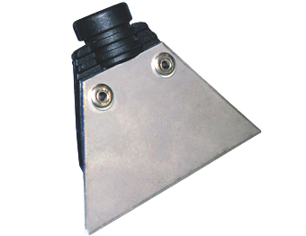 stainless steel scraper accessory for professional steam cleaning equipment