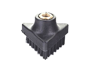 this triangular threaded brush is designed to be used with professional steam cleaning machines