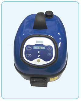 Battery operated Evo steamer with digital panel