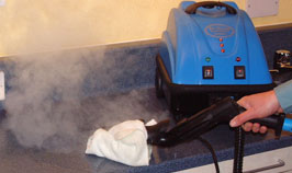 Commercial Cleaning Equipment which utlizes the power of dry steam vapour