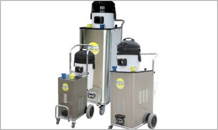 steam cleaning machine enclosed within a rugged stainless steel body, for worry-free operation