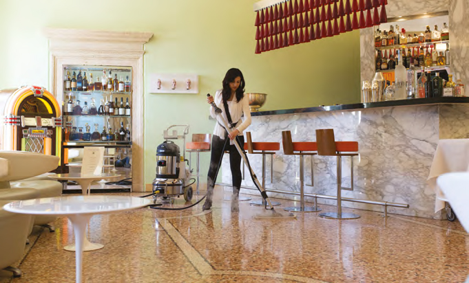 restaurant floor cleaning with thermoglide