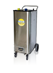 powerful commercial grade steam cleaning equipment, for cleaning wine barrels and removing brettanomyces
