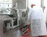 food spills and debris are easily cleaned from processing ones and conveyors