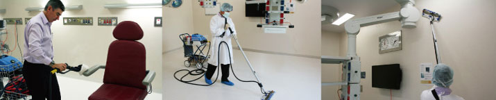 Clean dental clinics and surfaces with industrial cleaning equipment, for superior results