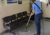 Waiting Room Cleaning with a Thermoglide