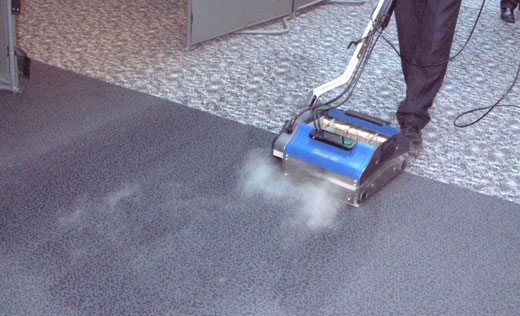 deep clean, sanitize and scrub medical facility floors, without using chemicals in a single pass
