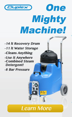 wet-dry vacuum with detergent mixer and large recovery reservoir, for commercial cleaning