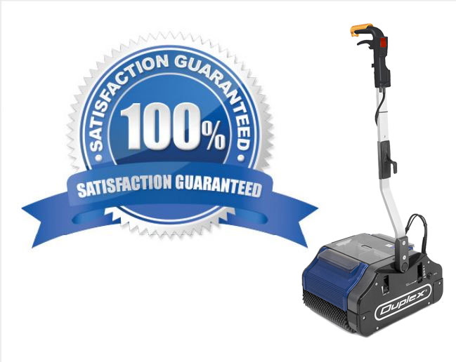 a factory warranty comes with all our cleaning equipment- all vacuums, steam vapour machines are guaranteed, for your peace of mind