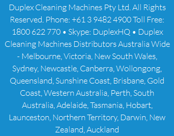 Commercial Cleaning Equipment by Duplex Australia- Click to Call